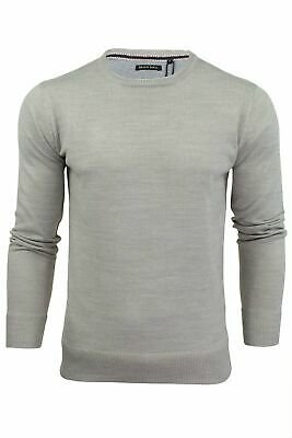 Mens Light Knitted Crew Neck Jumper Sweater Jersey Long Sleeve Brave Soul Parsec 6