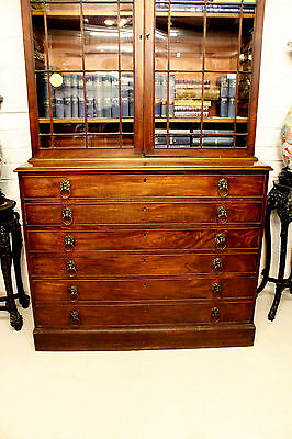 A Georgian Mahogany Secretaire Bookcase 5