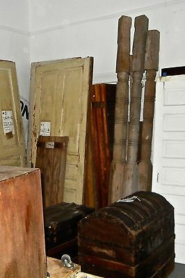 Victorian wood  Column turned Post porch Vintage 8