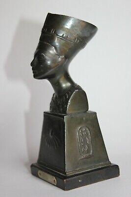 19th Century - Antique Egyptian Bronze Nefertiti Statue 4