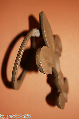 (1) Pc, Vintage Look, Fleur De Lis Door Knocker, Cast Iron, Fleur De Lis Decor 4