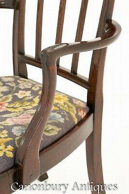 Mahogany Hepplewhite Dining Chairs Set 8 Antique Diners 8