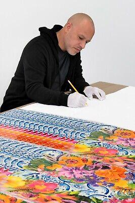 "Carlos Rolon Gild the Lily (Caribbean Azulejo), 2019 Ltd Ed Signed Print 24""x18"" 4"