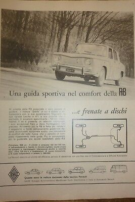 *advertising Pubblicita' Renault Caravelle 1100 - R8 -  1964 Altre Disponibili