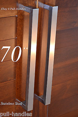 ENTRY DOOR PULL Handle push Square Long stainless steel Modern ...