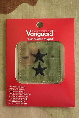 Us Army Gi Multicam Ocp O-8 Mg Hook Back Camouflage Camo Uniform Rank Patch