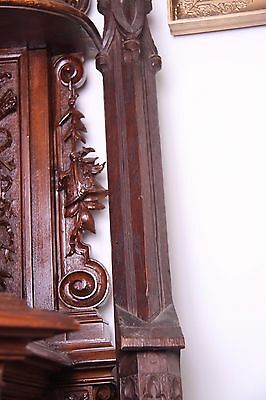19C French Carved Oak Gothic Columns 7