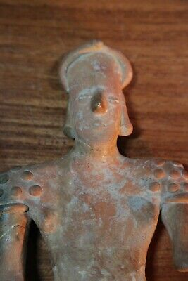 Pre Columbian Pottery Figure of Standing Woman 7