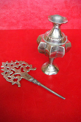 Old Brass Oriental makeup Bottle Surmedani which is used for eyeliner - makeup 6