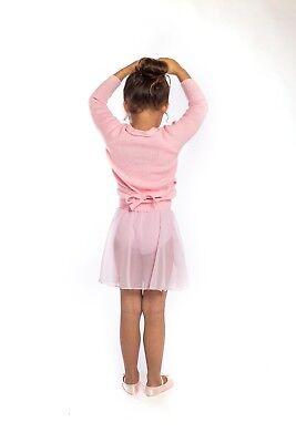 Girls PINK WRAP SKIRT Pull On proVora RAD Ballet Toddler// Child 2,3,4,5,6,7 NEW