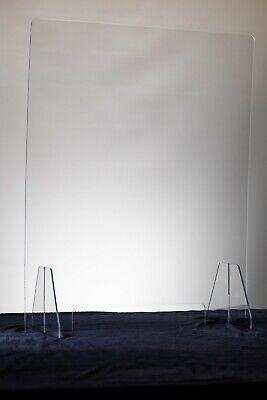 SNEEZE GUARD Plastic Divider PROTECTION Barrier SHIELD CHECKOUT COUNTER Desk 4