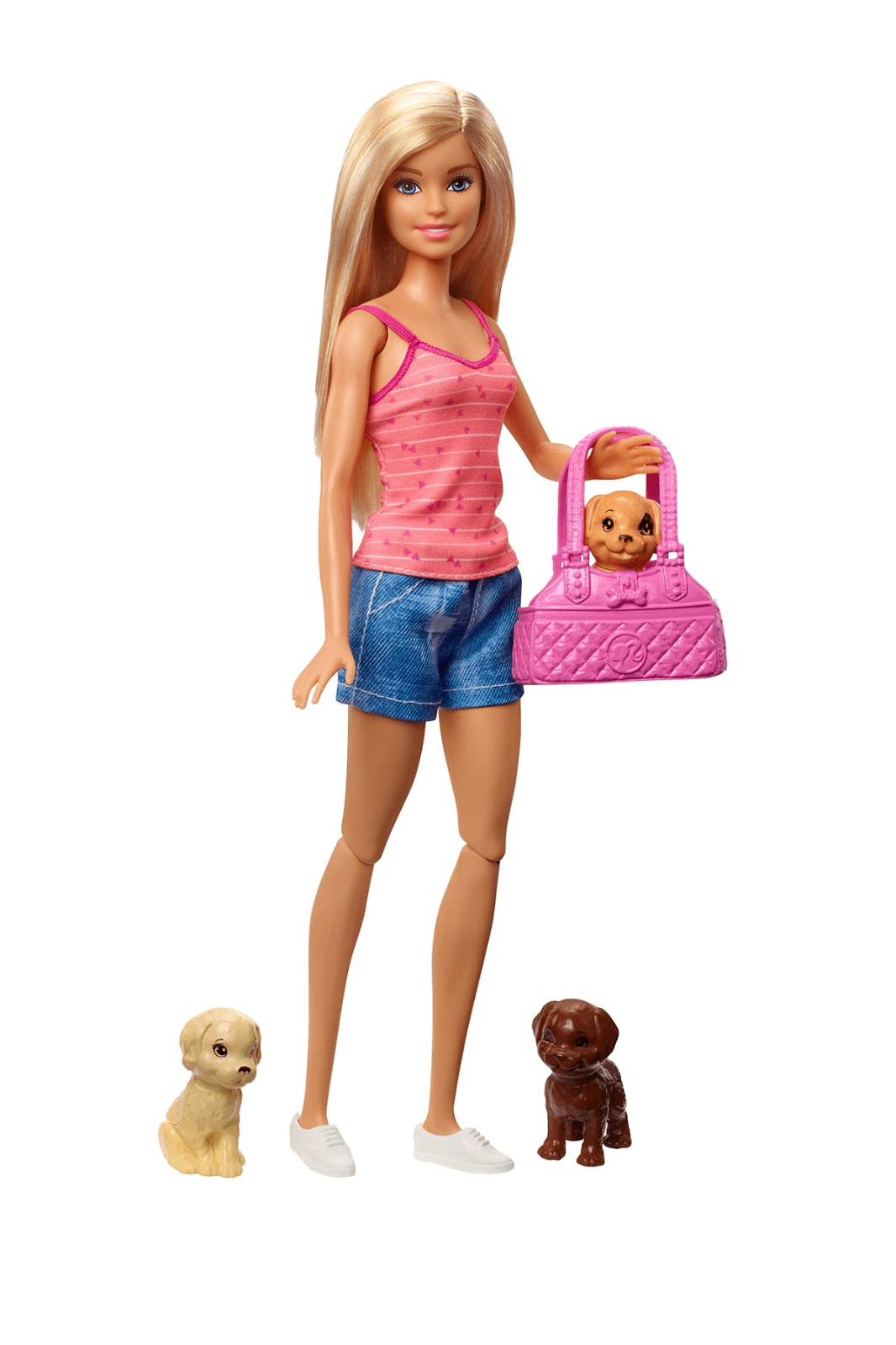 Barbie Doll GDJ37 Blonde and Playset with 3 Puppies and Accessories 5