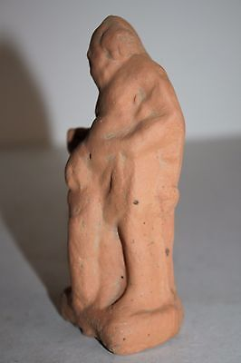 ANCIENT GREEK POTTERY TERRACOTTA FIGURE of SILENUS 4th CENTURY BC