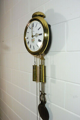 Old Comtoise Wall Clock Dutch Movement Vintage Old Clock 6