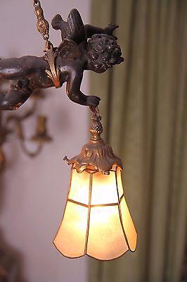 19C French Gilded Bronze Cherub Chandelier 5