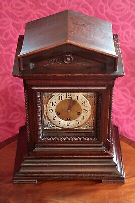 Antique Junghans Wurttemberg Bracket 8-Day Mantel Clock With Westminster Chimes 3