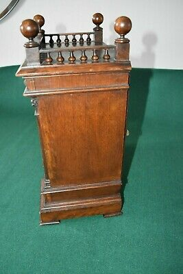 Lovely Antique Winterhalder & Hofmeier Bracket Clock [Oak Cased] 5