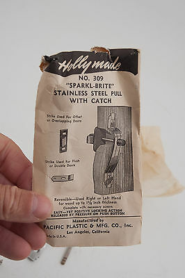 Holly Made #309 Sparkl-Brite Stainless Steel Cabinet Door Pull Handle NOS (D2R) 2