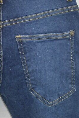 NEW Boys Kids Stretch Jeans Denim Skinny FIT Pants Trousers Age 7-13 Years BLUE 5