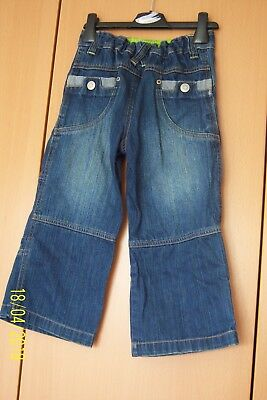 Boys Distressed Denim Blue Cotton Jeans Age 4 Years From Adams Zip & Popper 3