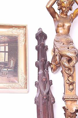 19C French Carved Oak Gothic Columns 4