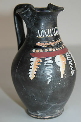 ANCIENT GREEK POTTERY GNATHIAN OLPE 4th CENTURY BC WINE CUP 2