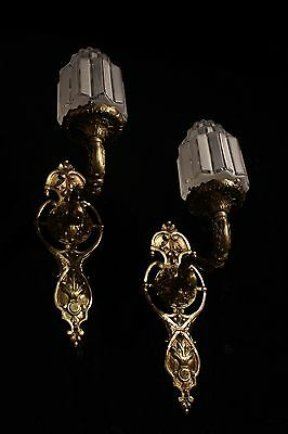 art deco sconces wall lights fixtures bronze handcrafted individually byartist 8