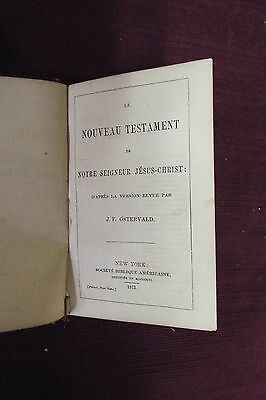 1873 French New Testament