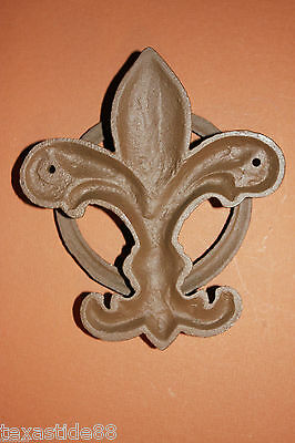 (1) Pc, Vintage Look, Fleur De Lis Door Knocker, Cast Iron, Fleur De Lis Decor 5