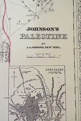 Johnson's map of Palestine - Undated 2