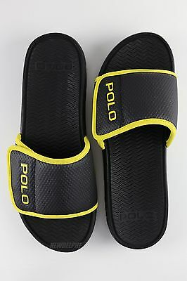 Polo Slipper Sandals Shoes Leather Men's Ralph Pony Lauren Flip Flops Nwt thdxQsrC