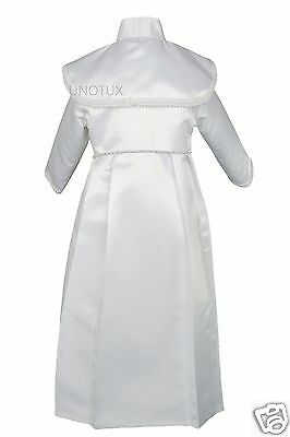NEW BABY BOYs TODDLER CHRISTENING BAPTISM FORMAL GOWN GOLD NEW BORN TO 30 MONTHS