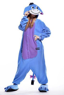 Unisex Adult Winnie The Pooh Flannel Onesie11 Cosplay Costume Kigurumi Pajamas* 11