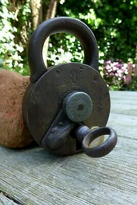 Antique Padlock with one key F.Sengpiel working order Made in Germany No.8 4