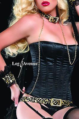 Sexy Leopardo Costume Gatta Orecchie Collare Polsini Cinta  Wild Cat Leg Avenue 4