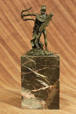 Apollo Dios de Bronce Libro Escultura Figura Figura Lost Cera Método Venta 5