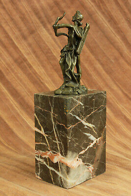 Dios Libro Extremo Escultura Estatua Mythical Figura Regalo Apollo de Bronce T 3