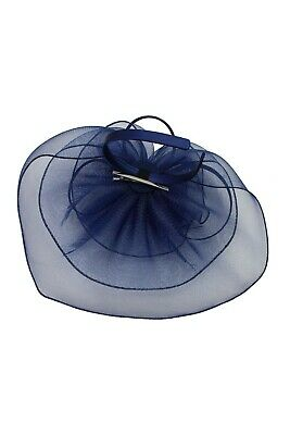 LARGE Feather Flower Hair Hat Fascinator Headband Party Wedding Royal Ascot Race 3