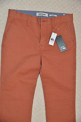 New Quiksilver Boys Straight Pants Trouser Chinos Burnt Sienna EQBNP03038 14 Yrs 3