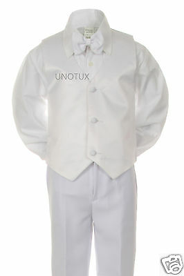5pc Set Formal Tuxedo Suits Outfits Christening Wedding Boys Size 9m-3T ST028A