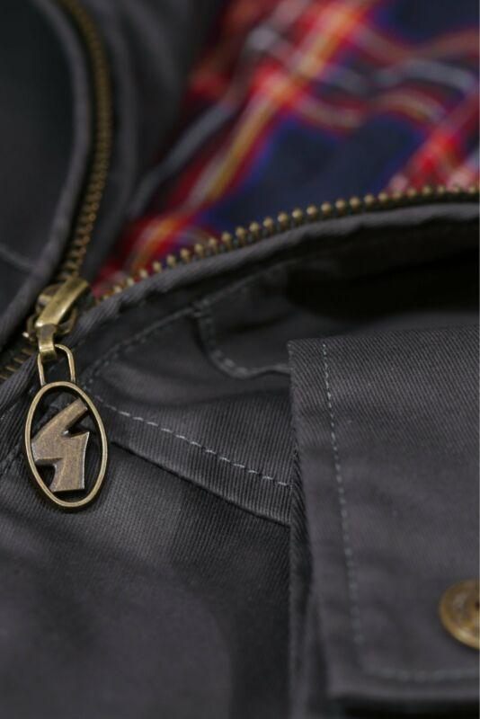 Gabicci Vintage Hunter Jacket in Charcoal showerproof coat