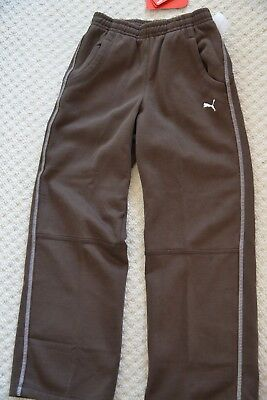 New Puma Shift 552491-01 Unisex Track Bottom Sweat Pants Chocolate Brown 9-10 Yr 3