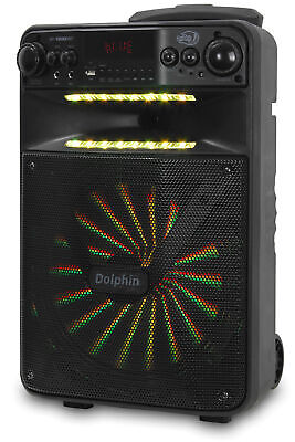 """Dolphin 2500W Rechargeable 12"""" Portable Bluetooth Speaker with LED's SP-1200RBT 10"""