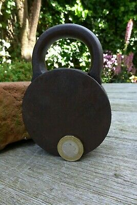 Antique Padlock with one key F.Sengpiel working order Made in Germany No.8 3