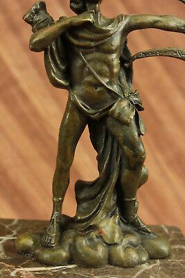 Dios Libro Extremo Escultura Estatua Mythical Figura Regalo Apollo de Bronce T 11