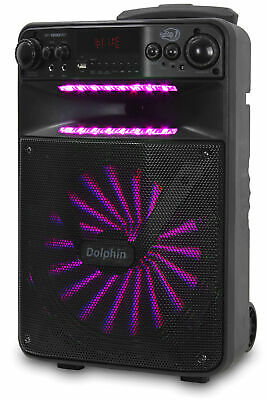"""Dolphin 2500W Rechargeable 12"""" Portable Bluetooth Speaker with LED's SP-1200RBT 8"""