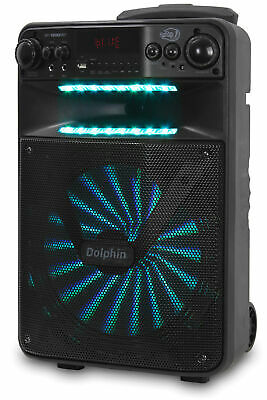 """Dolphin 2500W Rechargeable 12"""" Portable Bluetooth Speaker with LED's SP-1200RBT 6"""