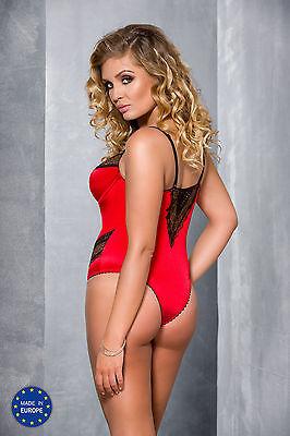 Passion Plus Size Body rot Übergröße Damen Dessous Damenbody Reizwäsche neu sexy 3