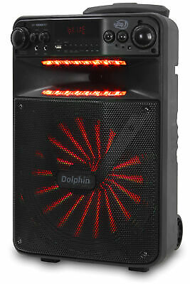 """Dolphin 2500W Rechargeable 12"""" Portable Bluetooth Speaker with LED's SP-1200RBT 9"""