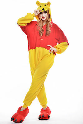 Unisex Adult Winnie The Pooh Flannel Onesie11 Cosplay Costume Kigurumi Pajamas* 7